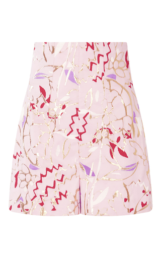 Medium peter pilotto pink taffeta jacquard shorts