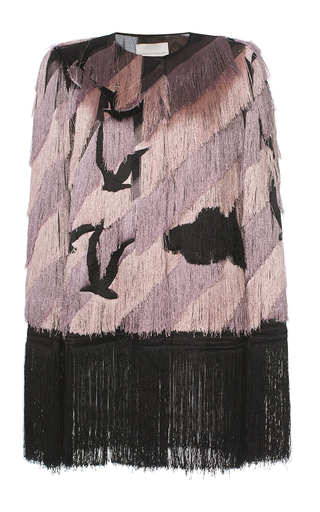 Medium marco de vincenzo purple fringe gulls cape