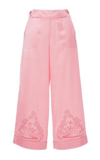 Medium vivetta pink cercopiteco wide leg cropped pants