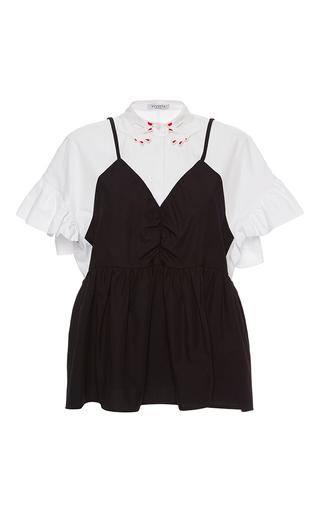 Medium vivetta multi lemming v neck poplin blouse