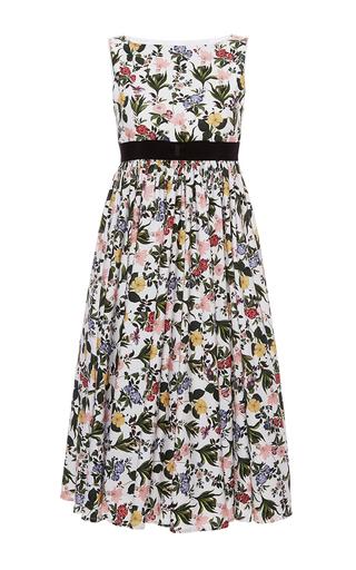 Medium vivetta floral printed svasso maggiore garden poplin dress
