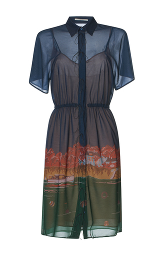 Medium marco de vincenzo blue villa jersey shirt dress