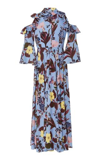 Medium vivetta floral printed cepola cold shoulder garden maxi dress