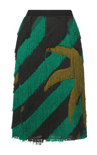 Medium marco de vincenzo multi fringe palms pencil skirt