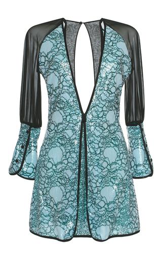 Medium marco de vincenzo metallic paillette embellished georgette mini dress