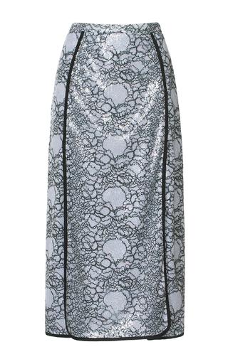Medium marco de vincenzo metallic paillette embellished pencil skirt