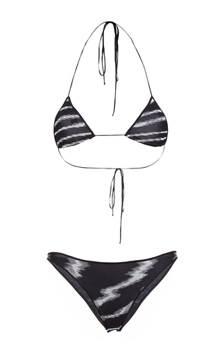 Medium missoni print triangle bikini