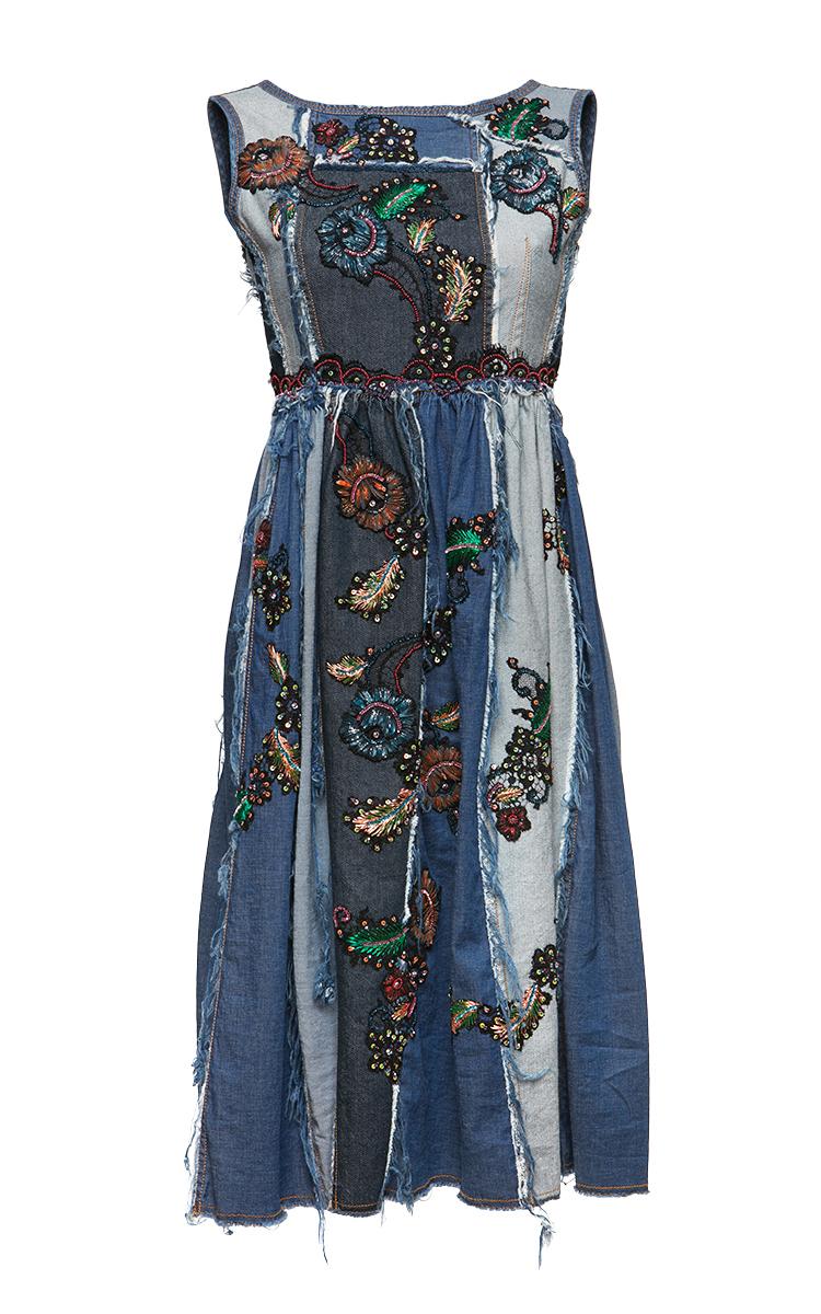 Denim Patchwork Dress