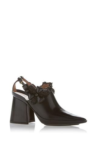 Medium marni black embellished slingback
