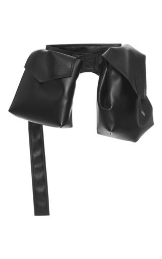 Medium marni black faux leather belt bag 2