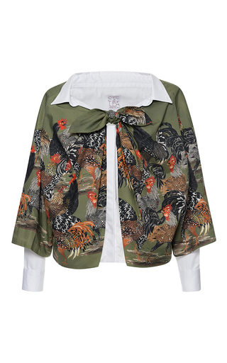 Medium stella jean multi riflessiva short sleeve blouse