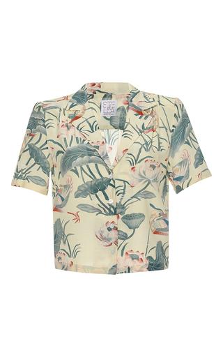 Medium stella jean print liberale short sleeve v neck shirt
