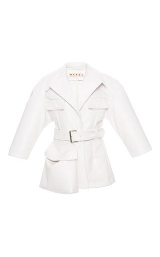 Medium marni white wide notched lapel jacket