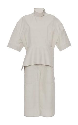 Medium marni off white short sleeve peplum dress