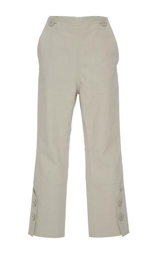 Medium marni khaki cropped straight legged pant