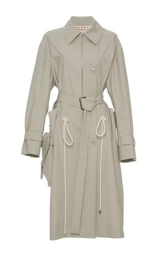 Medium marni khaki duster trench coat