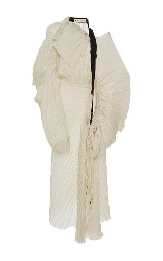 Medium marni stripe long sleeve drawstring dress