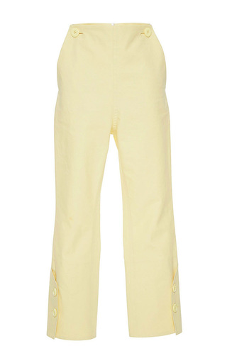 Medium marni off white cropped straight legged pant 2