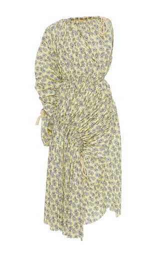 Medium marni print one shoulder midi dress