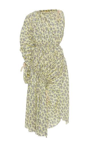 Medium marni print one shoulder midi dress