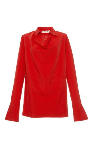 Medium marni red long sleeve cuffed tunic