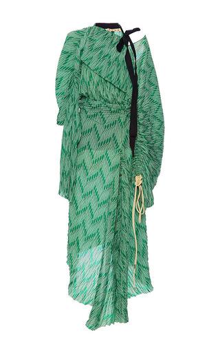 Medium marni print printed plisse dress