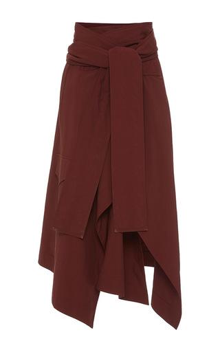 Medium marni burgundy belted handkerchief skirt