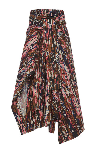 Medium marni print belted handkerchief skirt 2