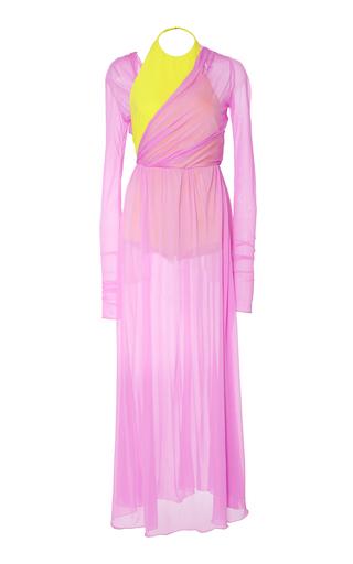 Medium emilio pucci pink long sleeve built in bodysuit maxi dress