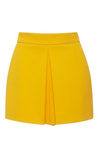 Medium emilio pucci yellow high waist box pleated shorts