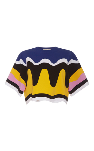 Medium emilio pucci multi oversized cropped retro top