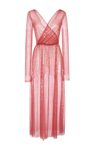 Medium emilio pucci pink shimmery sequin long sleeve dress