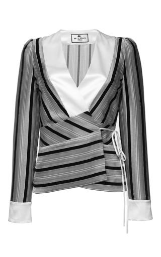 Medium etro stripe saffron jacket