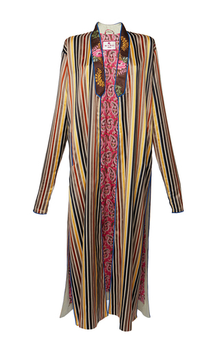 Medium etro stripe anise coat 2