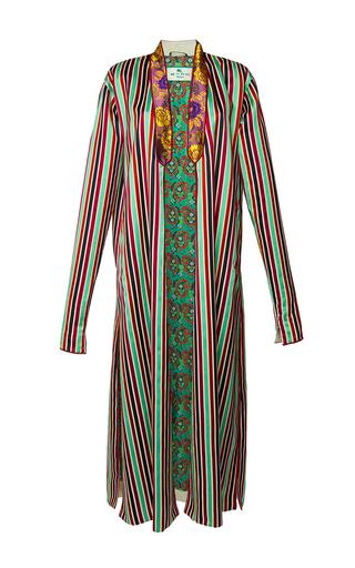 Medium etro stripe anise coat 3