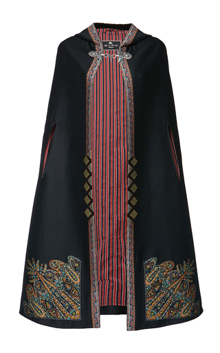 Medium etro black tangerin cape
