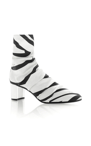 Medium emilio pucci white labyrinth printed ankle boot
