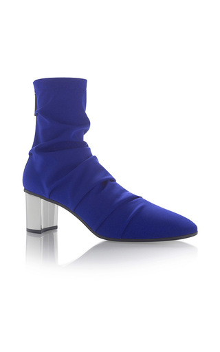 Medium emilio pucci blue solid ankle boot