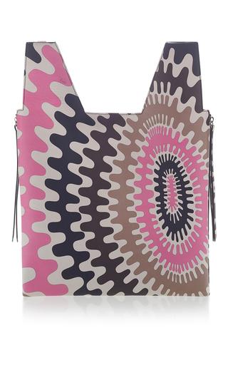 Medium emilio pucci pink wave printed shoulder bag