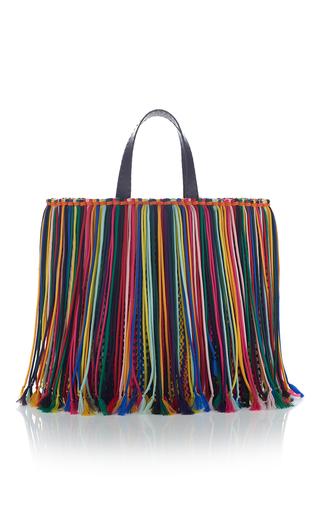 Medium emilio pucci multi multicolored fringe shoulder bag