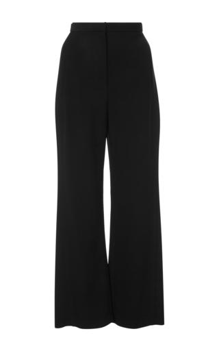Medium khaite black audrey cropped straight leg pants