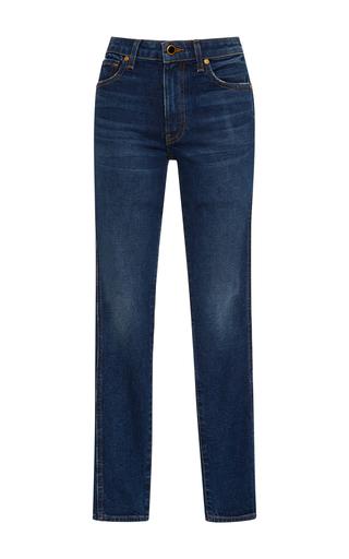 Medium khaite medium wash kassandra mid rise skinny jeans