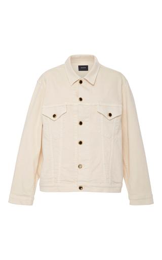 Medium khaite ivory cate ivory denim jacket