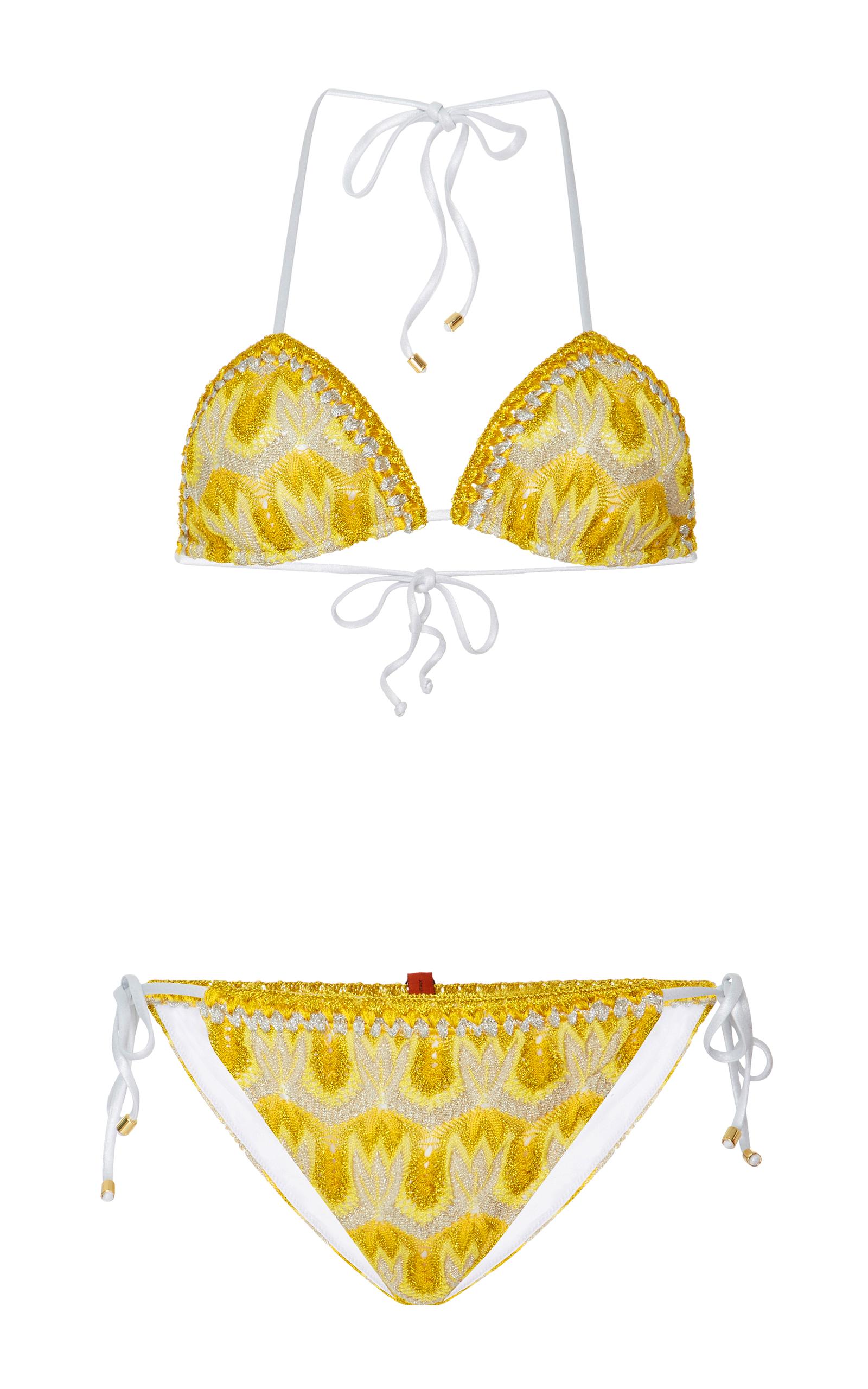 d1565216b8a04 Crochet-Knit Triangle Bikini by Missoni Mare | Moda Operandi