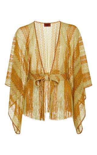 Medium missoni mare yellow crochet knit cape
