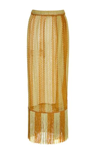 Medium missoni mare yellow crochet knit skirt