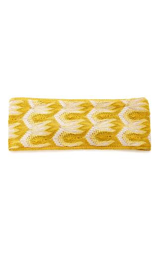 Medium missoni mare yellow crochet knit headband