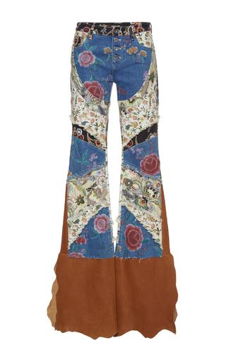 Medium roberto cavalli multi floral patchwork jeans