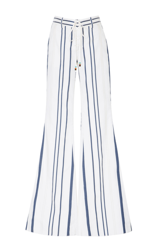 Medium roberto cavalli stripe pinstriped lace up flared pants