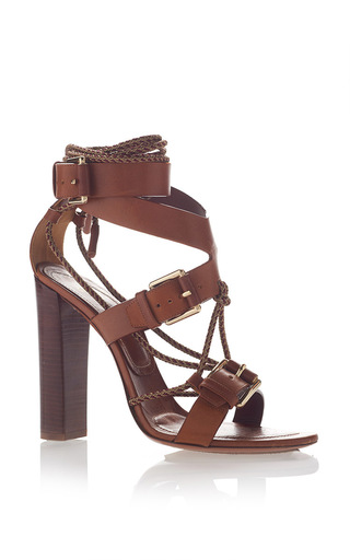 Medium etro brown lace up sandal